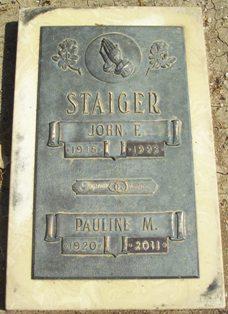 Pauline Marie <i>Schmitz</i> Staiger