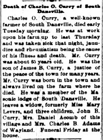 Sgt Charles Oliver Curry