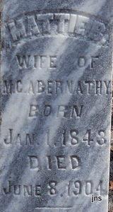 Martha B Mattie <i>Brothers</i> Abernathy