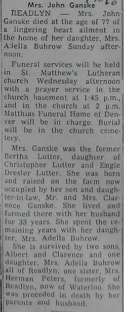 Bertha <i>Lutter</i> Ganske
