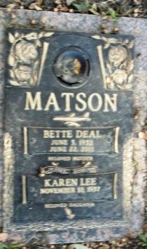 Bette <i>Deal</i> Matson