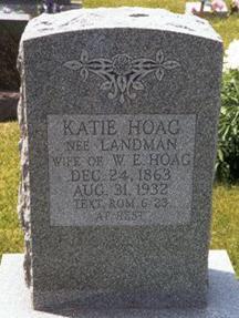 Etta Katherine Katie <i>Landmann</i> Hoag