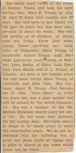 Mary Ellen <i>Baugh</i> Young