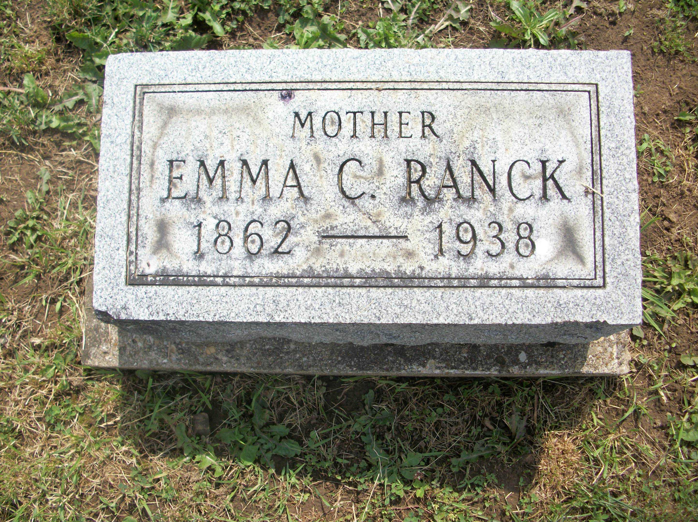 Emma Weimer Ranck of Franklin Ohio