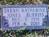 Sarah Katherine <i>Jones</i> Burriss