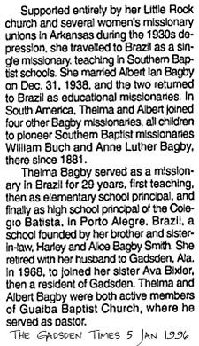 Thelma <i>Frith</i> Bagby