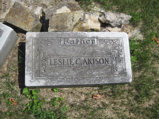 Leslie Cushman Akison gravestone
