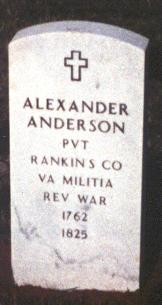 Pvt Alexander Anderson