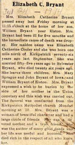 Elizabeth Catherine <i>Cooley</i> Bryant