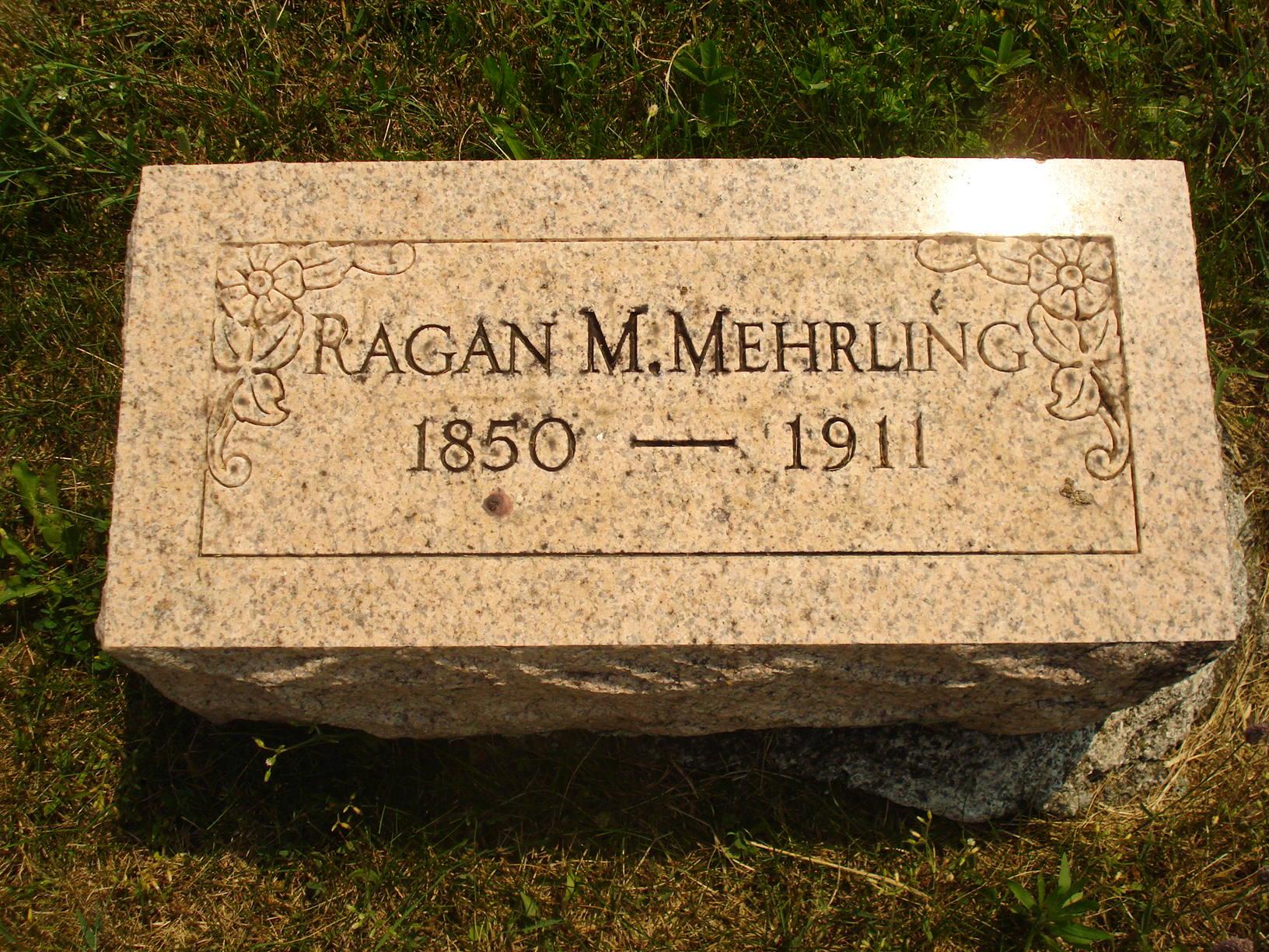 Ragan M Mehrling gravestone