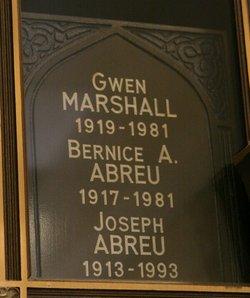 Bernice A <i>Marshall</i> Abreu