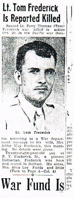 Lieut Perry Thomas Tom Frederick, Jr