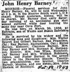 John Henry Barney