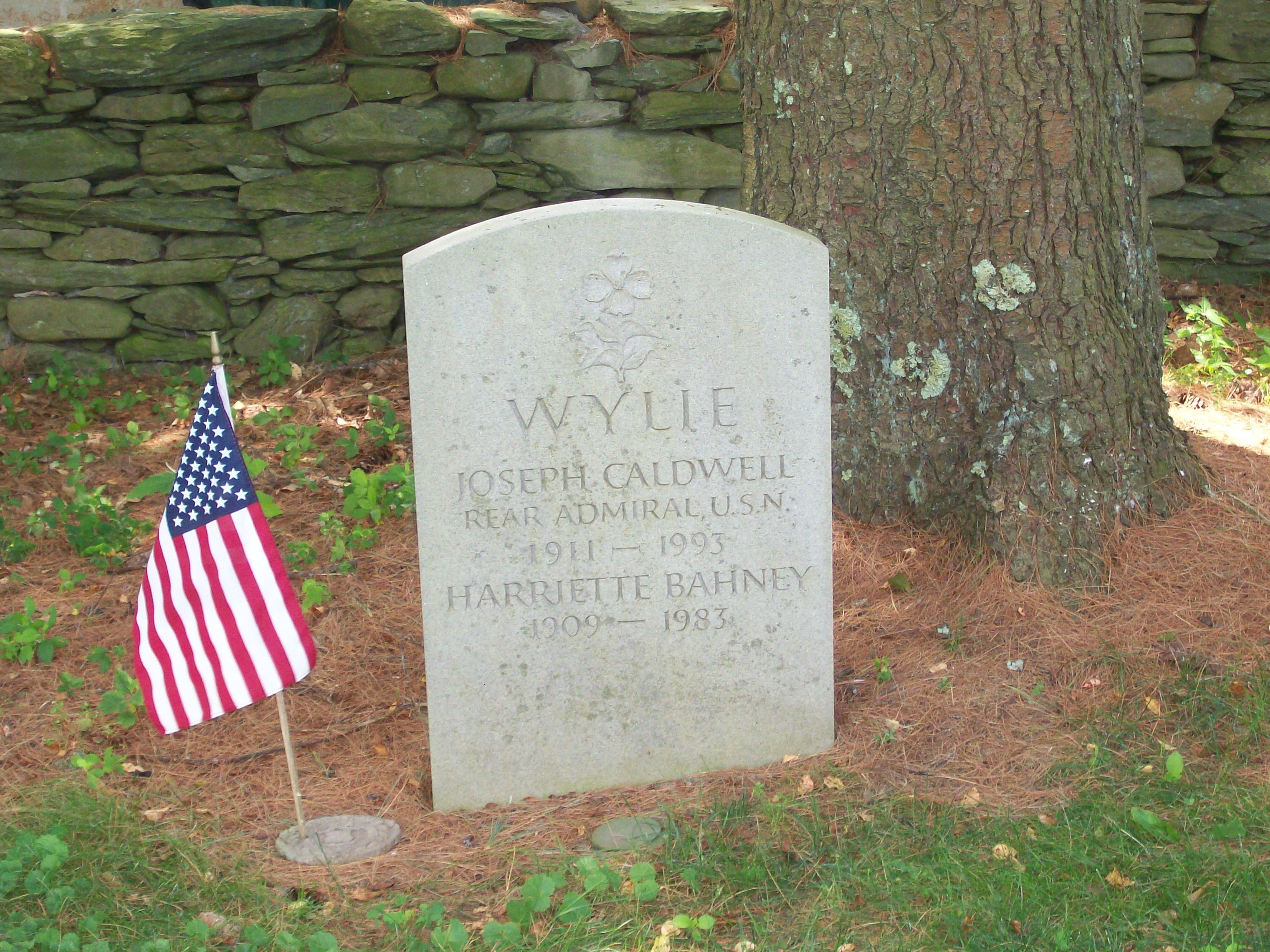 Wylie's headstone