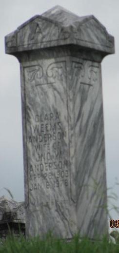 Clara <i>Weems</i> Anderson