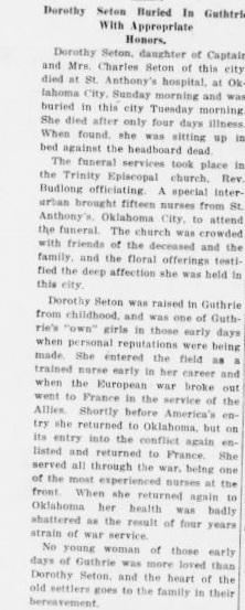 Dorothy Beatrice Seton