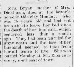 Mary E. <i>Crose</i> Bryan