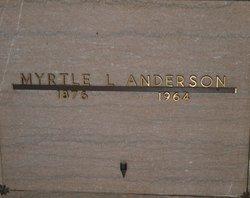 Myrtle Leona <i>Hinson</i> Anderson