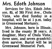 Edoth May <i>Marrs</i> Johnson