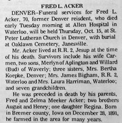 Fred Leroy Acker