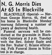 Norman George Morris