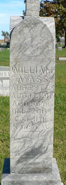 Pvt William Ayass/Ayers