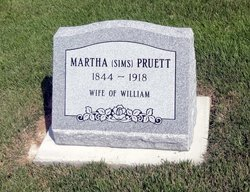 Martha <i>Sims</i> Pruett