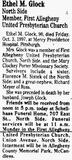 Ethel Mildred <i>Croup</i> Glock