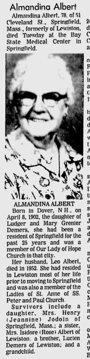 Almandina Dina <i>Demers</i> Albert