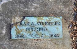 Sarah Alice <i>McDaniel</i> Strickler Herrell