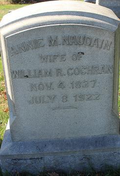 Annie M. <i>Naudain</i> Cochran