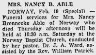 Nancy Nannie <i>Askew</i> Able