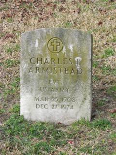 Pvt Charles E Armistead