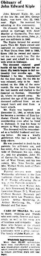 John E Kiple
