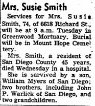 Susie Victoria <i>Harris</i> Smith