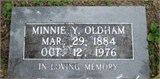 Martha A. Minnie <i>Young</i> Oldham