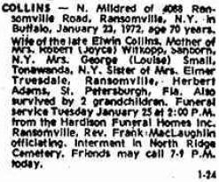 Nellie Mildred <i>Adams</i> Collins