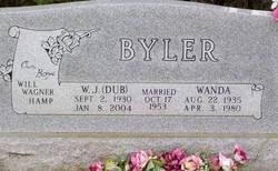 W J Dub Byler