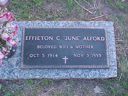 Effieton June <i>Crooms</i> Alford