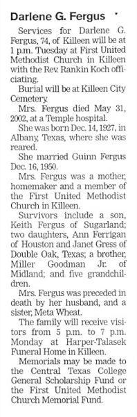 Darlene G. Fergus