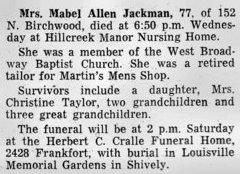 Mabel <i>Allen</i> Jackman