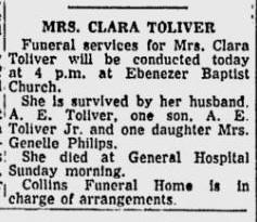 Clara <i>Glenn</i> Tolliver