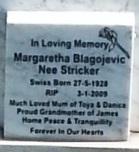 Margaretha <i>Stricker</i> Blagojevich