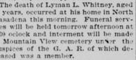 Dr Lyman L Whitney