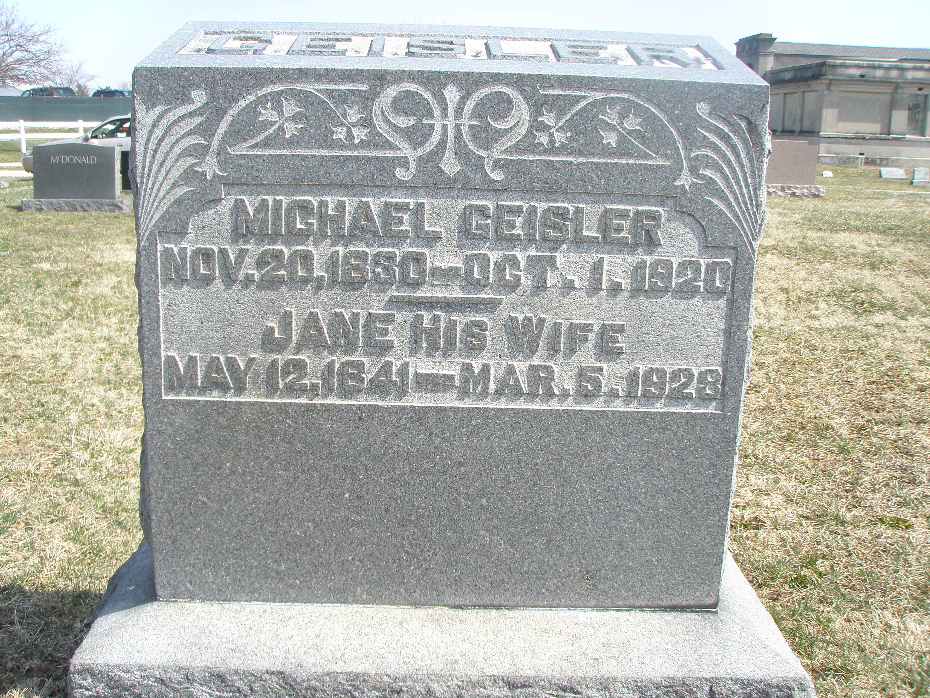 Michael and Jane Geisler of Franklin County Ohio