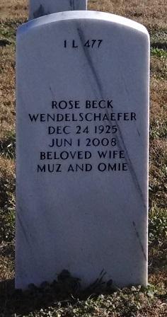 Rose <i>Beck</i> Wendelschaefer