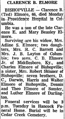 Clarence B Ted Elmore