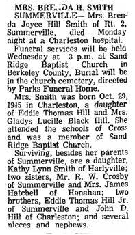 Brenda Joyce <i>Hill</i> Smith