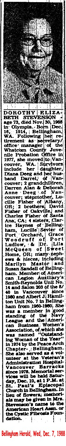 Dorothy Elizabeth <i>Fisher</i> Stevenson