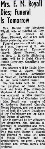 Harriet Hay <i>Maybank</i> Royall